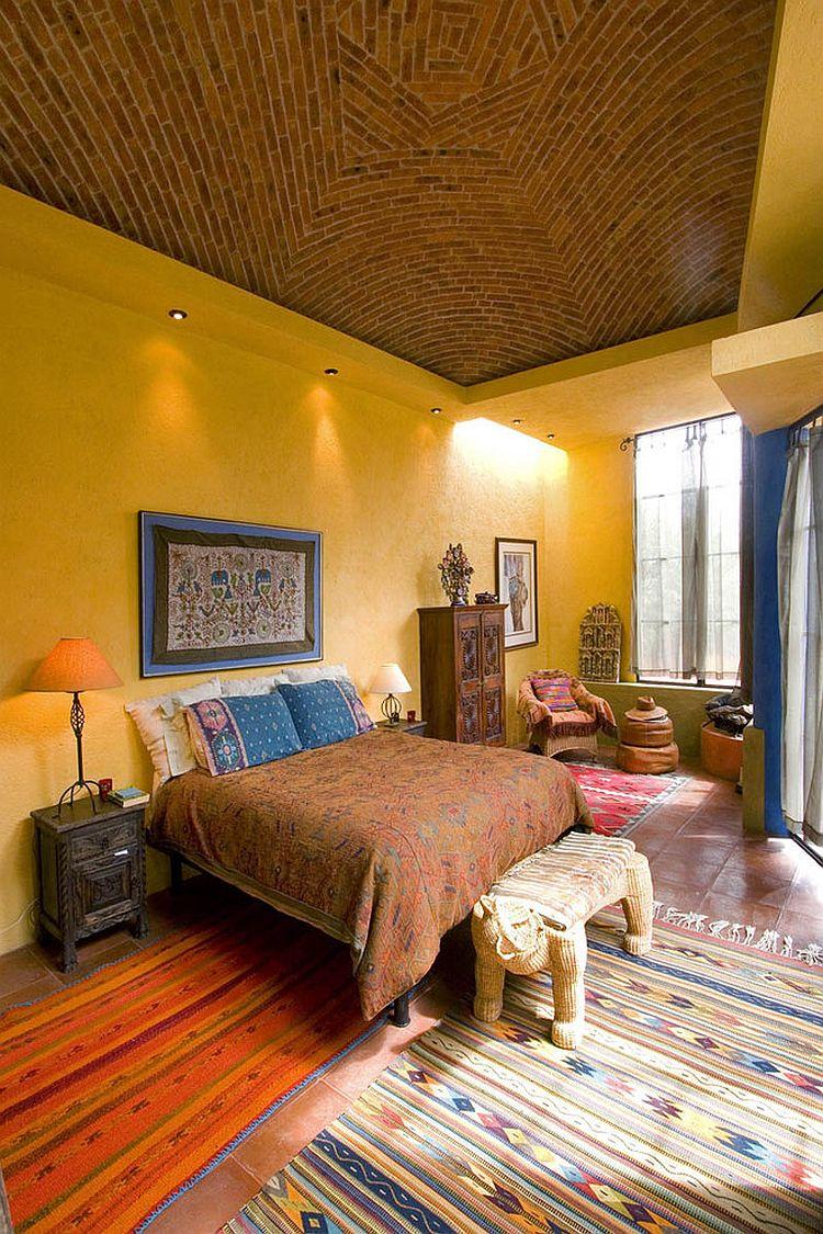 camera da letto stile esotico